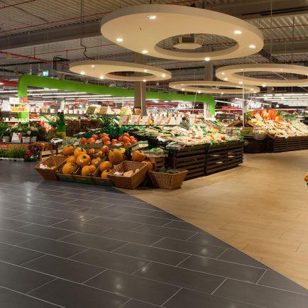 Rüttelboden Supermarkt Topgres Fliesengroßhandel