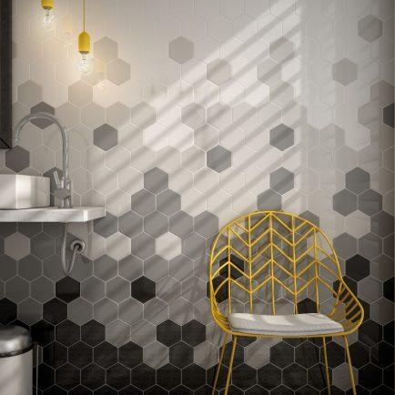 Sechseckfliesen für beeindruckende Wanddesigns