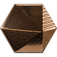 Dreidimensionale Wandfliesen in metallic