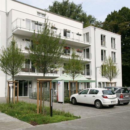 Die Moderne Seniorenresidenz Krefeld in der Außenansicht