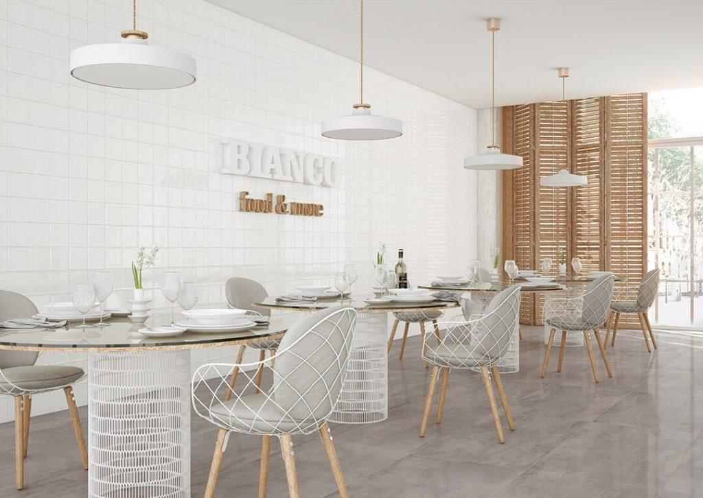 Glänzende Fliesen für Restaurants, Wohnungsbau und Hotellerie