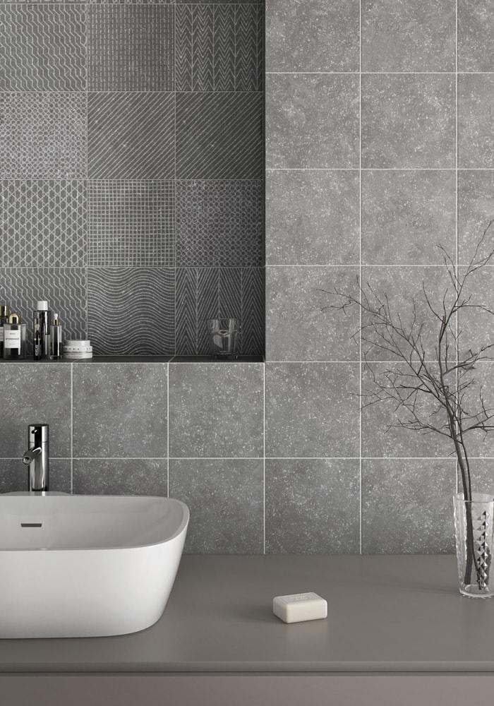 Dekorfliesen in Grau für Architekten
