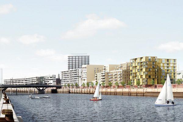 Visualisierung Panorama Baakenhöfe in der HafenCity