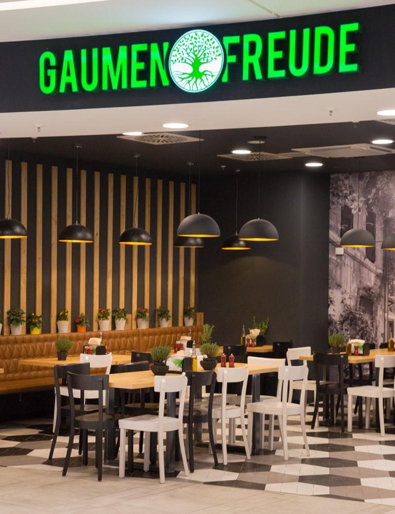 Topgres Referenzen: Restaurant Gaumenfreude im Loom Bielefeld