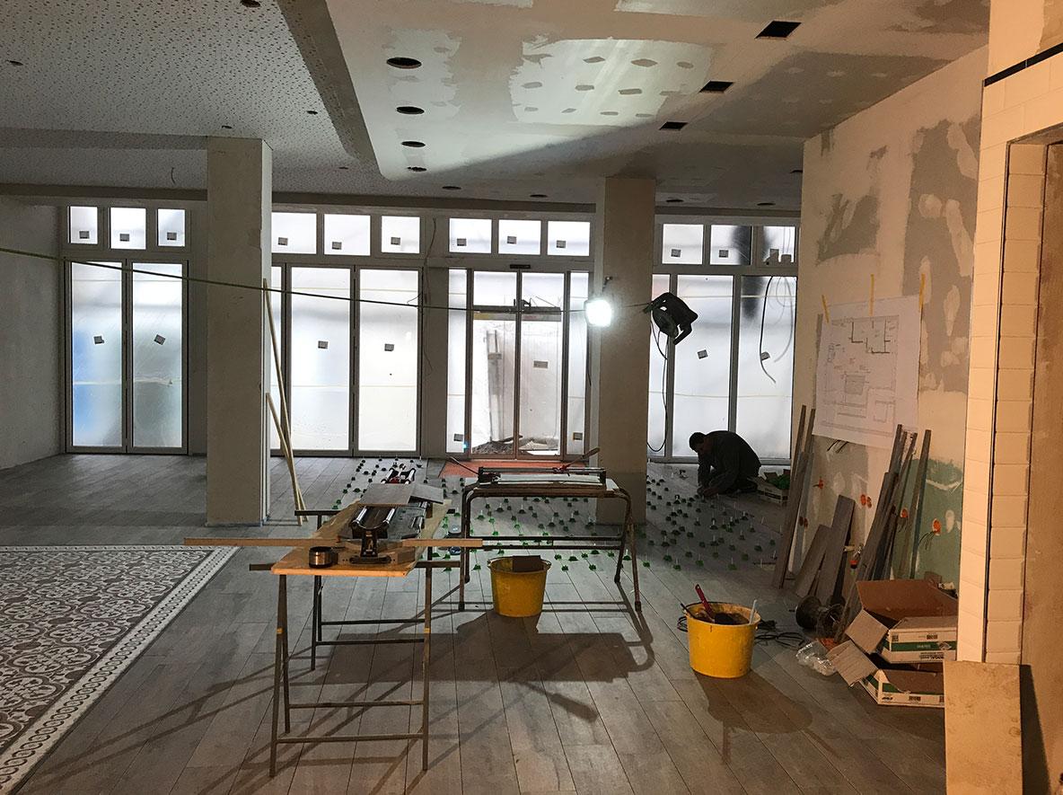 Vorher/Nachher: Die Baustelle beim Lohner Landbäcker