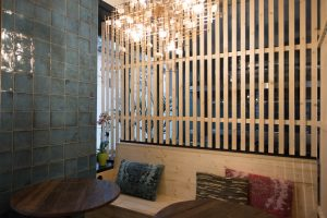 Fliesen für Restaurants: Wandfliesen Vanity in Blau