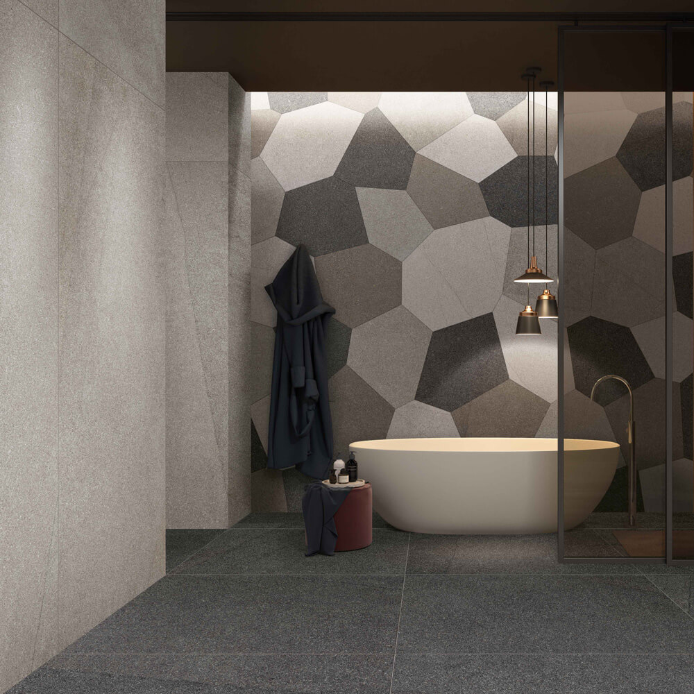 Terrazzo Fliesen als individuelle Wandgestaltung