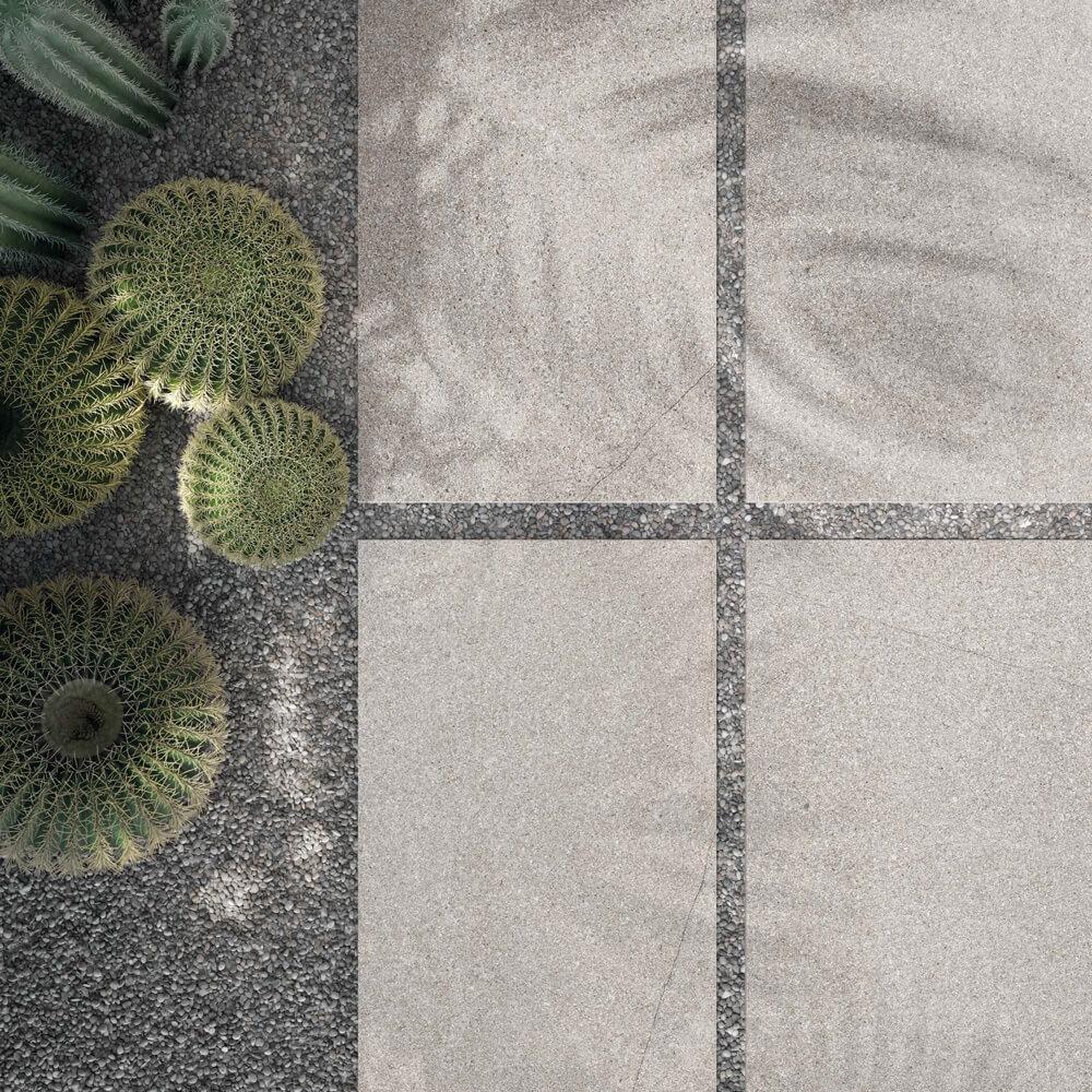 Terrassenplatten aus Feinsteinzeug