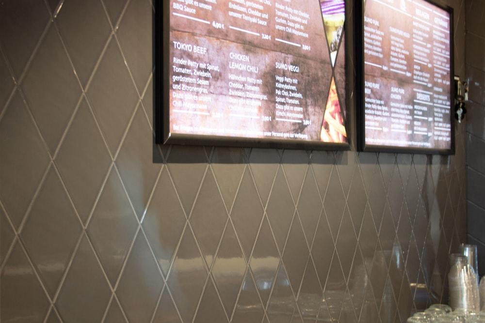Wandfliesen Daimana im Restaurant Sumo Burger Mülheim