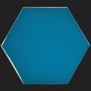 Sechseckfliesen Six in electric blue