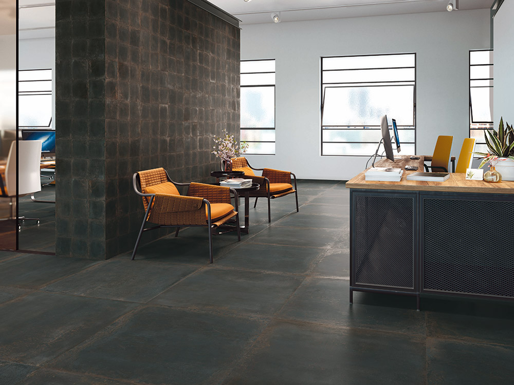 Gibson Floor Black 100x100cm